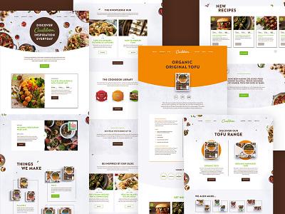 Food Brand UI navigation vegetarian search vegan product typography colour flat web interface ux ui clean
