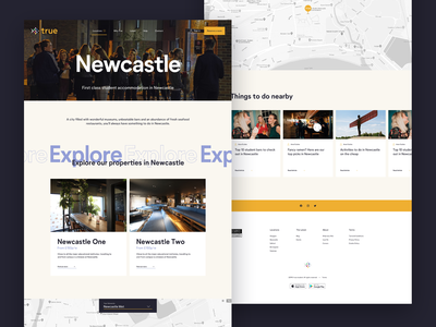 Student Accommodation UI homepage design text web clean student interface ux colour ui flat