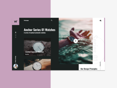 Watch Store Landing Page