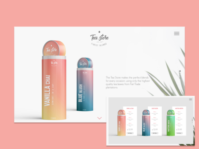 Tea Store Landing and Product Pages