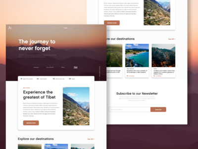 Travelling Agency - Landing Page