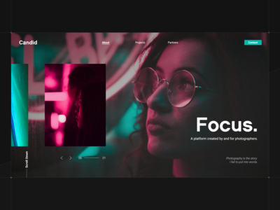 Focus Photography Landing Page