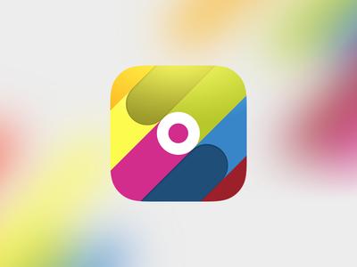 Let It Rainbow icon app colorful rainbow ios icon indie game let it rainbow runner minimal
