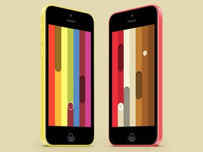 Let it Rainbow screenshots app mobile mockup ios iphone game colorful indie minimal screenshot let it rainbow