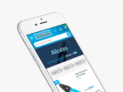 Cofermeta mobile site webdesign cofermeta website mobile webapp mockup ui e-commerce store hardware store