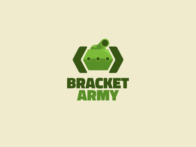 Bracket Army logo logo tank icon branding coding development company code bracket army corporate identity