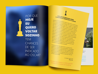 """The Way He Looks"" booklet mockup booklet print design oscar movie film academy the way he looks hoje eu quero voltar sozinho foreign language"