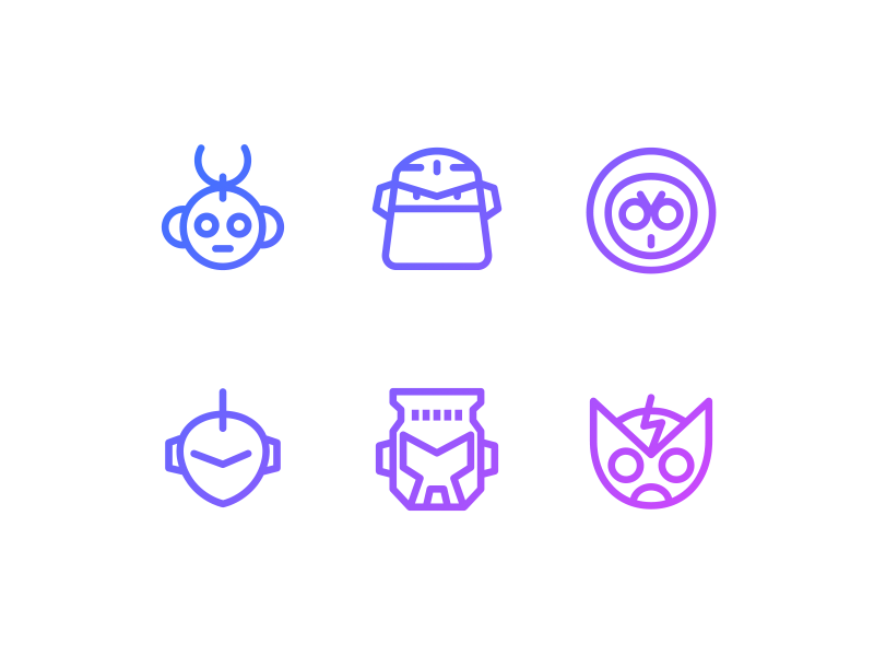"""Mega Man"" Mega Minimal Iconset — Free PSD file mega man vector resource free download psd illustrator photoshop freebie iconset icon"