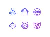 """""""Mega Man"""" Mega Minimal Iconset — Free PSD file"""