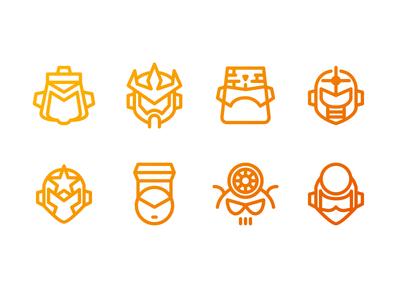 """""""Mega Man 5"""" Mega Minimal Iconset"""