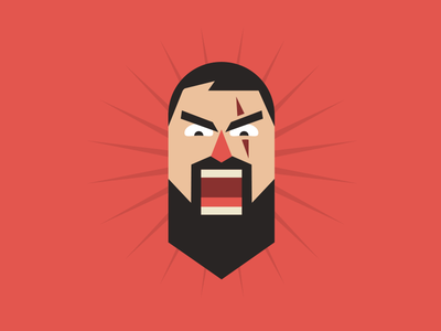 """""""This is Sparta!"""" Footbl badge all in face flat design illustration 300 sparta icon ios badge app footbl"""