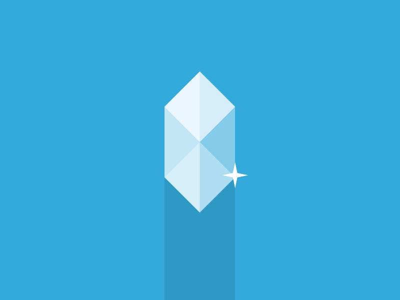 """Crystal"" Footbl badge footbl crystal badge flat design app ios illustration icon"