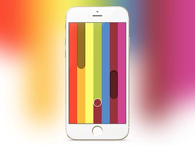 Let it Rainbow screenshot let it rainbow pride screenshot colorful minimal iphone mobile indie game app mockup ios