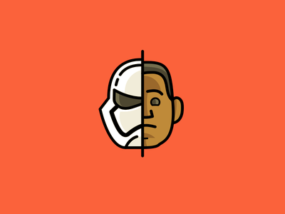 The Force Awakens: Finn icon unmasked star wars the force awakens stormtrooper finn movie iconset icon