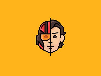 The Force Awakens: Poe Dameron icon unmasked poe dameron star wars the force awakens pilot helmet x-wing movie iconset icon