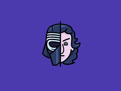 The Force Awakens: Kylo Ren icon unmasked knights of ren dark side kylo ren star wars the force awakens ben movie icons icon