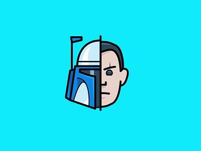 Attack of the Clones: Jango Fett icon jango fett star wars attack of the clones helmet clonetrooper movie icons icon