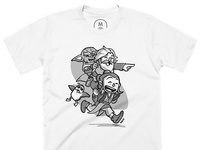 Rey, Luke and Yoda t-shirt at Cotton Bureau