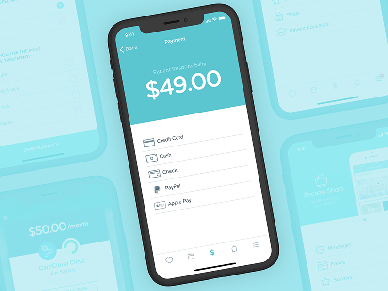 Breeze patient app payment flow