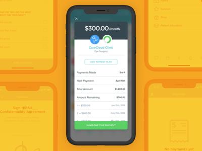 CareCloud's Breeze patient app: Payment plan receipt