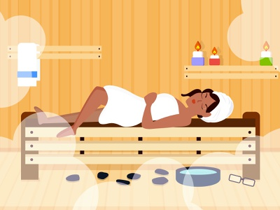 Time to relax. art branding animation illustrator graphic design design vector minimal flat character design illustration