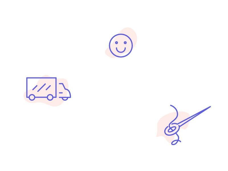 Lil cuties needle smiley truck icon