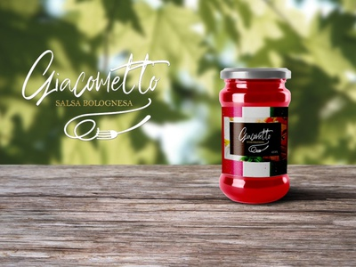 Diseño de logo para salsa de pasta ux vector illustration branding