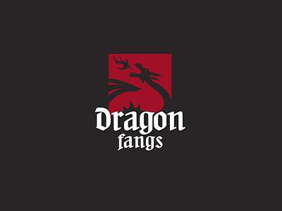 Dragon fangs flat web typography ux vector ui branding
