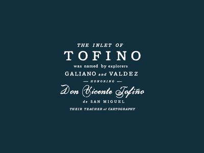 Tofino wine coaster san francisco white navy vintage scanned typography tofino