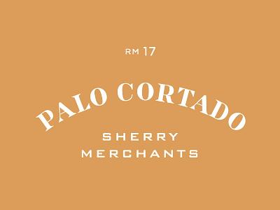 Palo Cortado vintage typography door merchant sherry palo cortado san francisco wine bar tofino