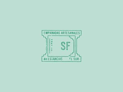 Stamp california texture distressed spanish bay area san francisco empanadas stamp