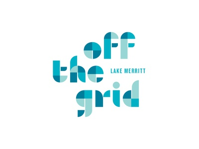 Off the Grid bay area california font custom typography logo food off the grid