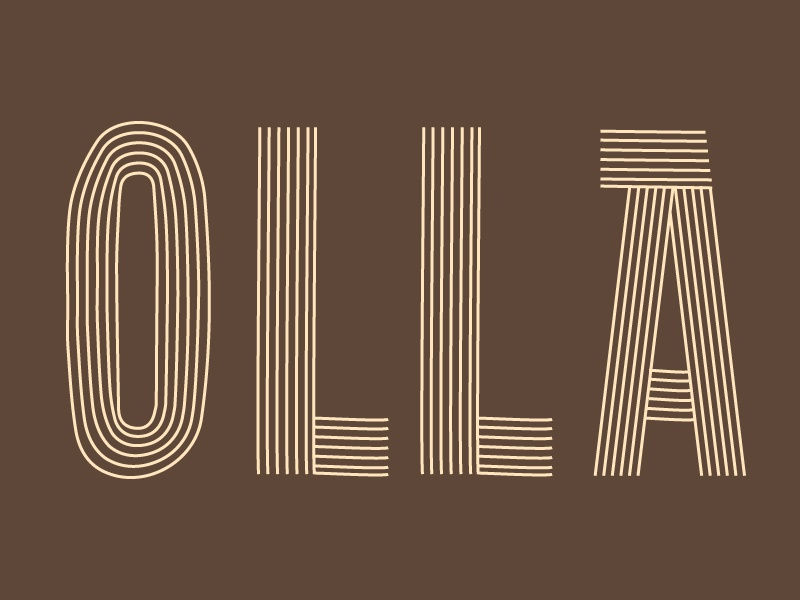 Olla restaurant food mexican brown linear branding logo