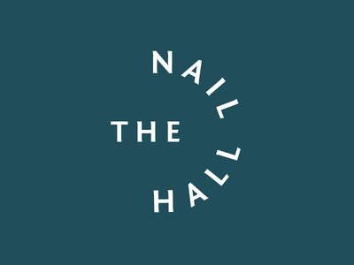 The Nail Hall branding beauty custom logo salon nail salon hall nail