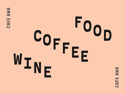 Food, Coffee, Wine cafe restaurant pink salmon typography wine coffee food