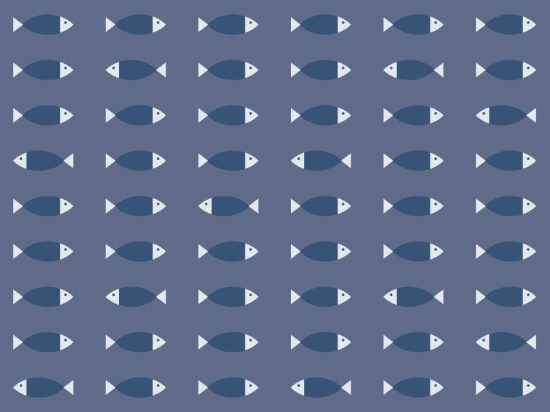 Something Fishy wallpaper pattern seafood water lake ocean sea navy blue fish