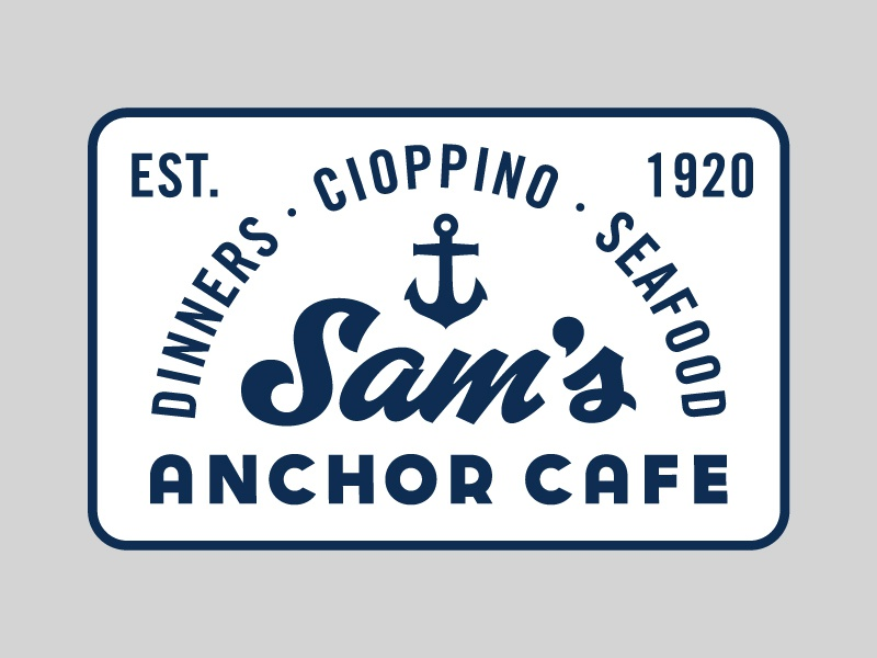 Sam's Anchor Cafe anchor hat patch bay area california tiburon cafe sams anchor cafe