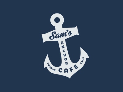 Sam's Anchor Cafe anchor logo california tiburon restaurant cafe sams anchor cafe
