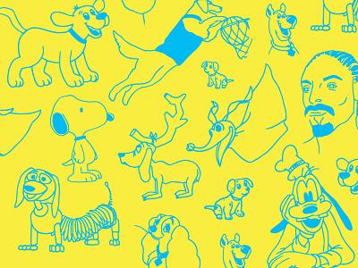 Dog kanine pupper pup dog illustration dog