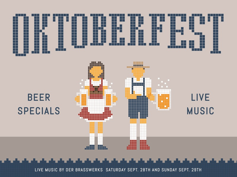 Oktoberfest at Joinery illustration music drinks beer german germany oktoberfest sausalito california typography