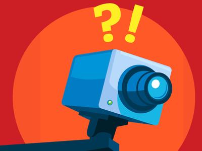 Security Camera illustration iphone wallpaper