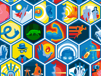 Super Me Icons icons illustrations melmedia superpowers