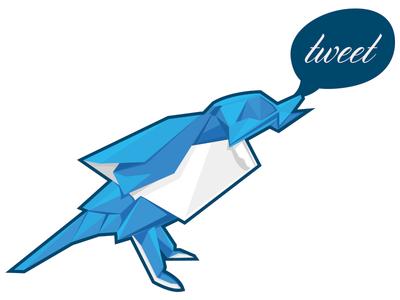 Origami Twitter Sticker