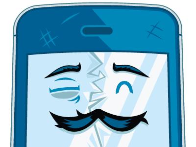 Beat Up Iphone illustration iphone meltmedia