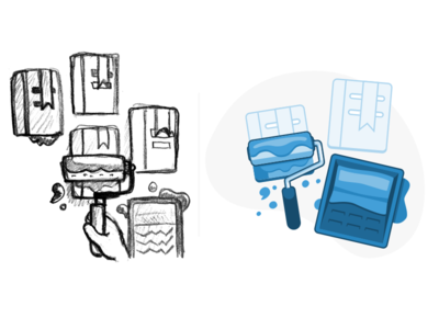 Home page illustrations