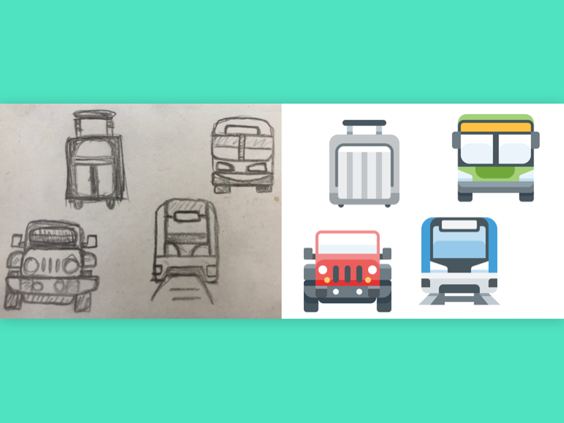 Making Some Icons train jeep bus luggage icons