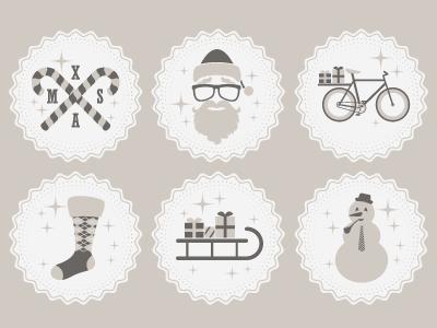 Hipster Christmas Icons christmas icons hipster xmas freebie candy