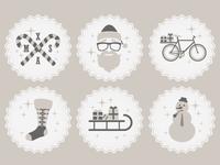 Hipster Christmas Icons