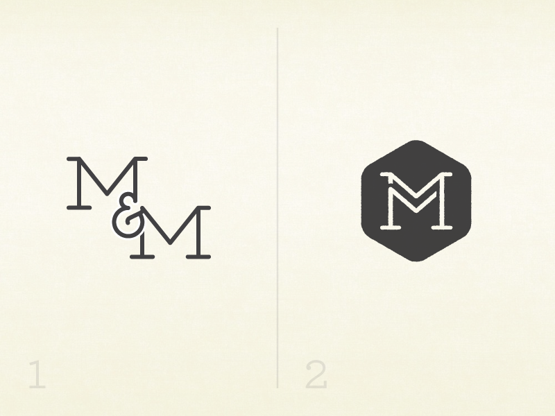 M&M Wedding Logo Revision by Michael Gauthier - Dribbble
