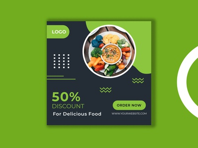 Delicious Food Discount Web Banner food duotone desserts dessert deal coffee cafe burger beverage banners ads banner graphicdesign designs branding design discount business brand design branding design